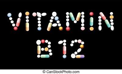 b12, tabletten, vitamine