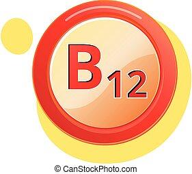 b12, vitamine, pictogram