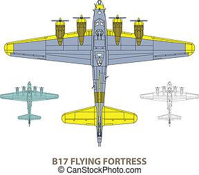 b17, vliegende vesting