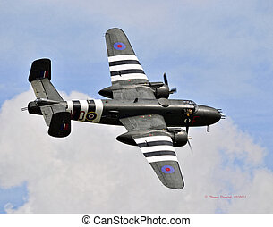 B25 Michell Bomber - Flight of a Mitchell Bomber.