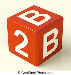 b2b, 赤, さいころ, ∥ように∥, a, 印, の, ビジネス, そして, 協力