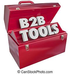 b2b, 도구, 빨강, 연장통, 사업, 파는 것, 자원