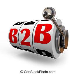 b2b, 슬롯 머신, 바퀴, 문자판, 사업, 판매, 모델