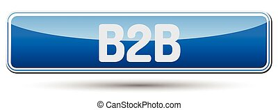 B2B - Abstract beautiful button with text.