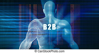 B2b as a Futuristic Concept Abstract Background
