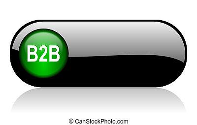 b2b black glossy banner