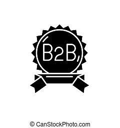 B2b black icon, vector sign on isolated background. B2b concept symbol, illustration