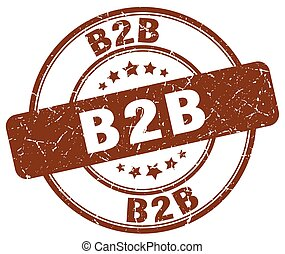 b2b brown grunge stamp