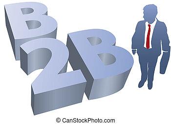 B2B Business man ecommerce
