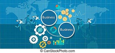 b2b business to bizz vector illustration