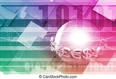 B2B Business to Business Concept as Abstract