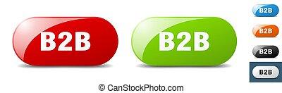 b2b button. key. sign. push button set