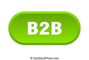 b2b button. rounded sign on white background