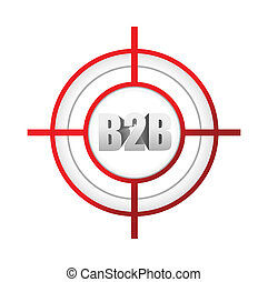 b2b, concept, cible, affaires signent