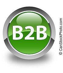 B2b glossy soft green round button