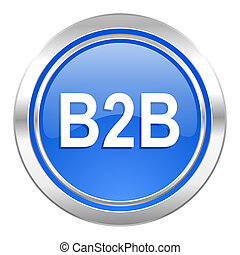 b2b icon, blue button