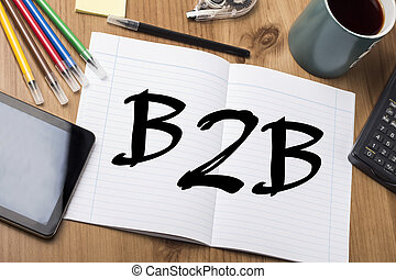 B2B - Note Pad With Text