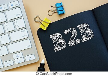 B2B phrase on the page.