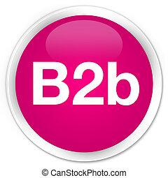 B2b premium pink round button