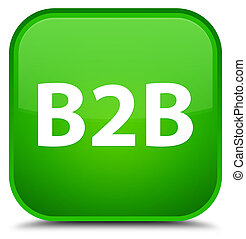 B2b special green square button