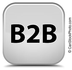 B2b special white square button