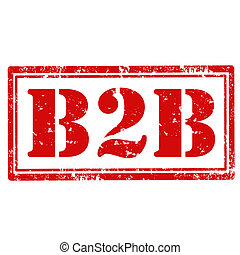 Grunge rubber stamp with text B2B,vector illustration
