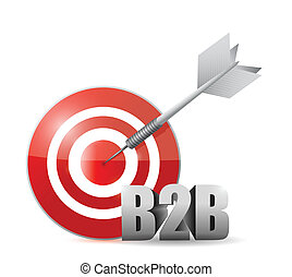 b2b target illustration design