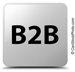 B2b white square button