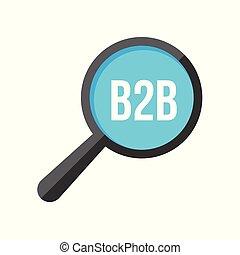 B2b Word Magnifying Glass