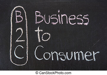 B2C acronym Business to Consumer, Business concept ,color ...