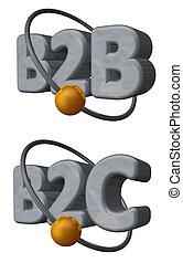 b2c, b2b
