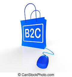 B2C Bag Shows Business to Customer Online Buying
