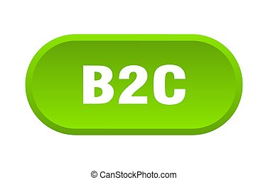 b2c button. rounded sign on white background - b2c button. ...