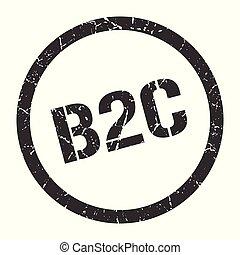 b2c stamp - b2c black round stamp