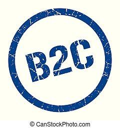 b2c stamp - b2c blue round stamp