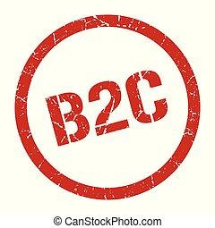 b2c stamp - b2c red round stamp
