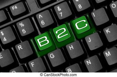 b2c - This is an image of keyboard with added effect.