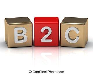 b2c, zakelijk, om te, consument