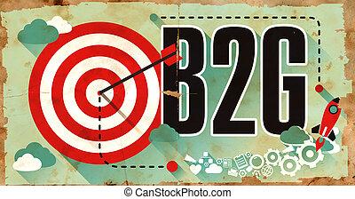 b2g, afisz, słowo, grunge, design.