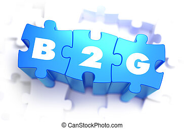 B2G - White Word on Blue Puzzles.