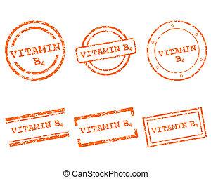 b4, スタンプ, ビタミン