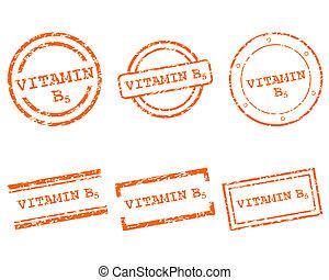 b5, スタンプ, ビタミン