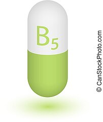 b5, capsule, pictogram, vitamine pil