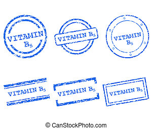 b5, postzegels, vitamine