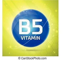 b5, vitamine, pictogram