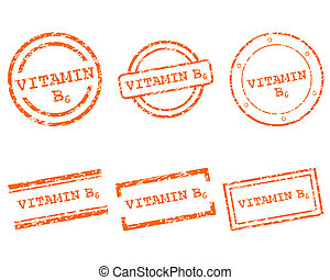 b6, ビタミン, スタンプ