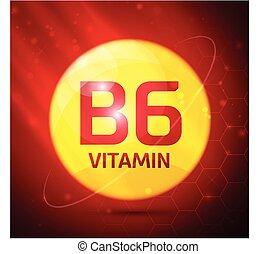 b6, vitamine, pictogram