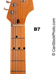 Diagram of how to finger a B7 Guitar Chord.