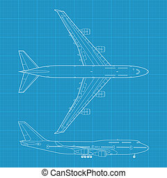 B747 - high detailed vector illustration of modern civil...