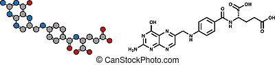 b9, acid), molecule., (folic, vitamin